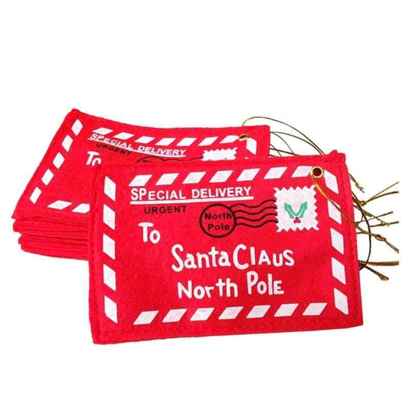 산타 클로스 북극 크리스마스 봉투 펜던트 트리 액세서리 크리스마스 작은 선물 사탕 가방 홈 파티 크리스마스 장식