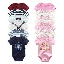 2020 noworodka romper bawełna 6 sztuk/partia pajacyki dziecięce z krótkim rękawem unisex lato dziecko kombinezon romper roupas de bebe chłopiec odzież