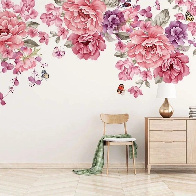 Настенная 3D Роспись Маслом на заказ, стерео, с цветами розы, для гостиной, телевизора, дивана, спальни, домашний декор, водонепроницаемые сам...