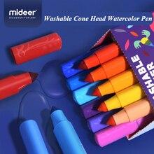 Mideer 12/24/36/48PCS Colors Drawing Painting Watercolor Art Marker Pens Tip Brush Washable Pen Supply