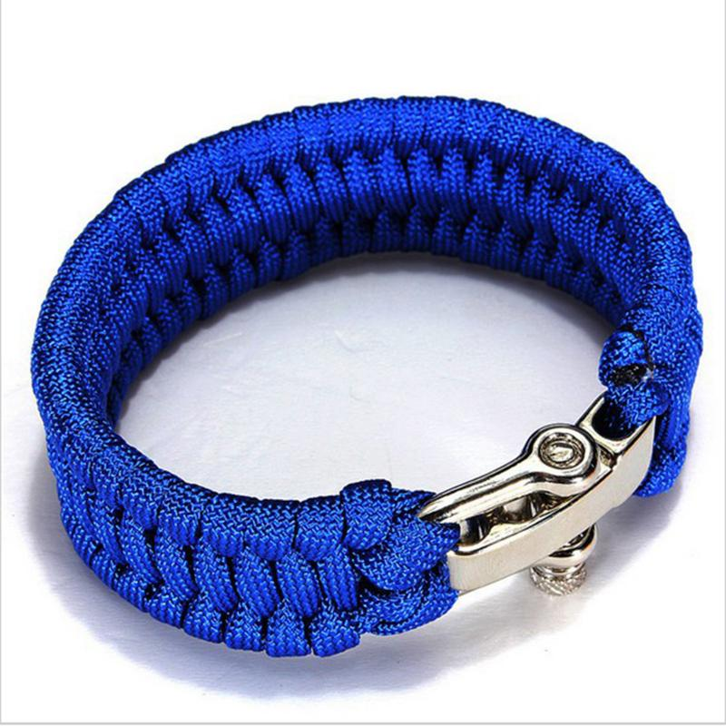 1pc Survival Bracelet Handmade Paracord Weave Stainless Steel S Outdoor Survival Bracelet Weave Handmade Travel Kits