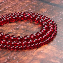 Fashion Crimson Glass Round Beads Loose Jewelry Stone 4/6/8/10 / 12mm Suitable For Making Jewelry DIY Bracelet Necklace