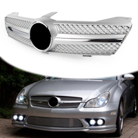 For Mercedes Benz W219 CLS500 SLS600 CLS Class 2004 2005 2006 2007 Front Grille Grill WITH EMBLEM