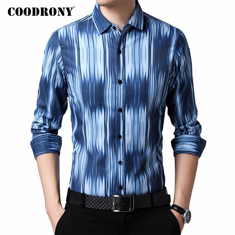 COODRONY Brand Long Sleeve Shirt Men 2020 Spring Autumn New Arrival Casual Shirts Streetwear Fashion Pattern Chemise Homme C6048