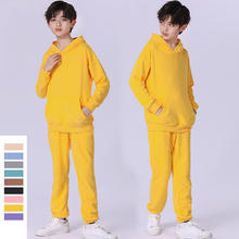 Teens Boys Girls Clothing Set 2021 spring New Children Costume Terry Cotton Hoodie Sweatpants 2 Pcs Suit for Kids Tracksuit 10 Y