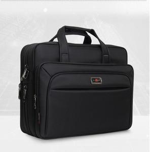 """Image 3 - Serviette Business pour hommes, serviette de grande capacité, sac à bandoulière simple pour hommes 14 """"15"""" 16 """"2020, sac pour le travail et le bureau, nouvelle collection pochette dordinateur"""