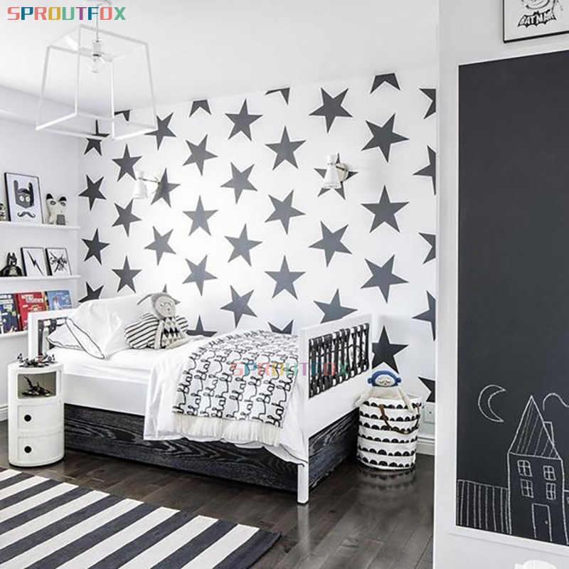 لتقوم بها بنفسك نجوم كبيرة ملصق فينيل غرفة نوم الفن الجداريات للإزالة خلفية مقاومة للمياه ديكور المنزل لغرفة الطفل الحضانة جدارية