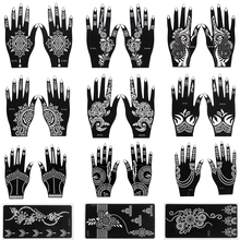 Tattoo-Stencils Sticker Makeup-Tools Henna Template Body-Art Temporary Wedding-Painting