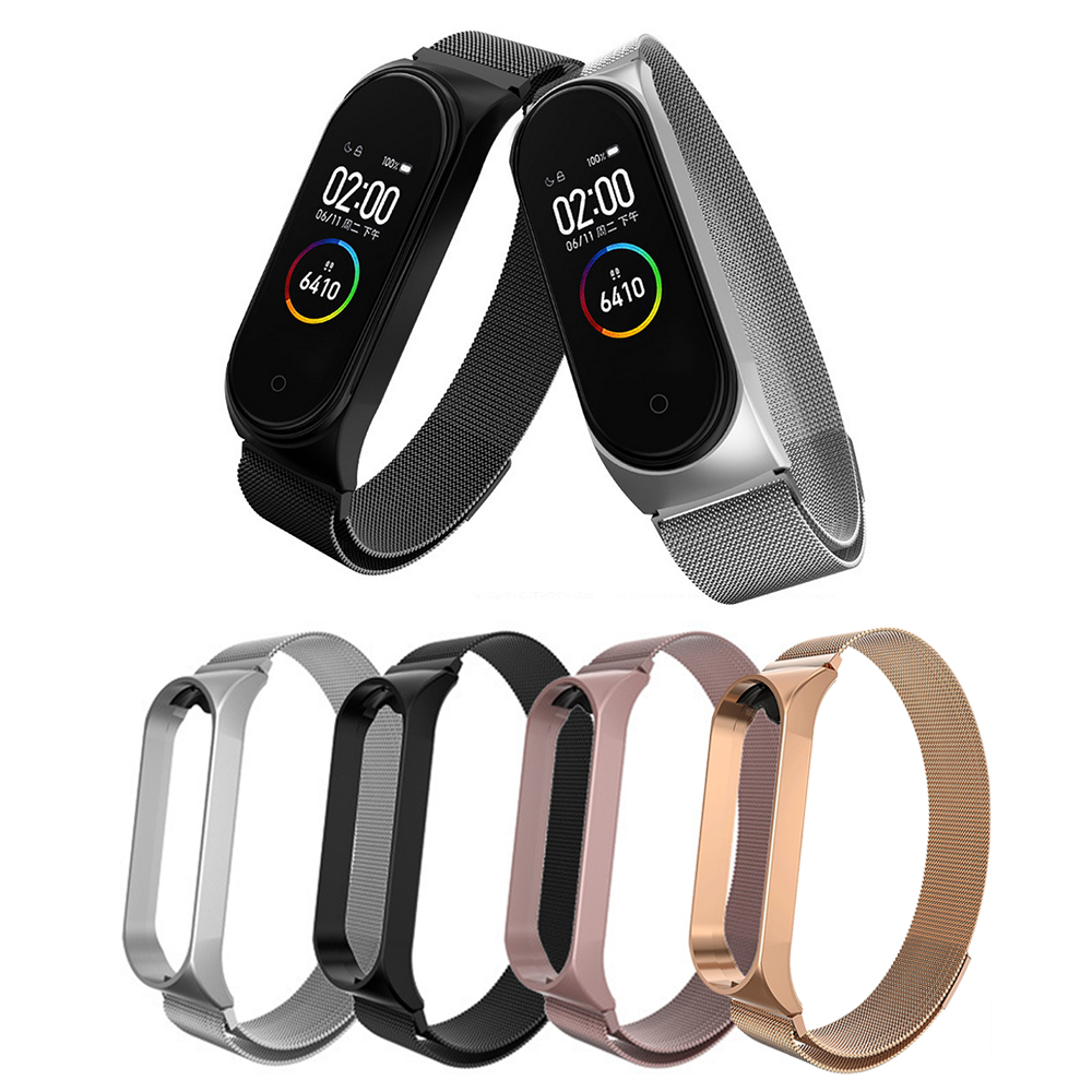 Stainless Steel Wrist Strap For Xiaomi Mi Band 3 4 Metal Watch Band Smart Bracelet For miband 3 Belt Replaceable Watch Straps
