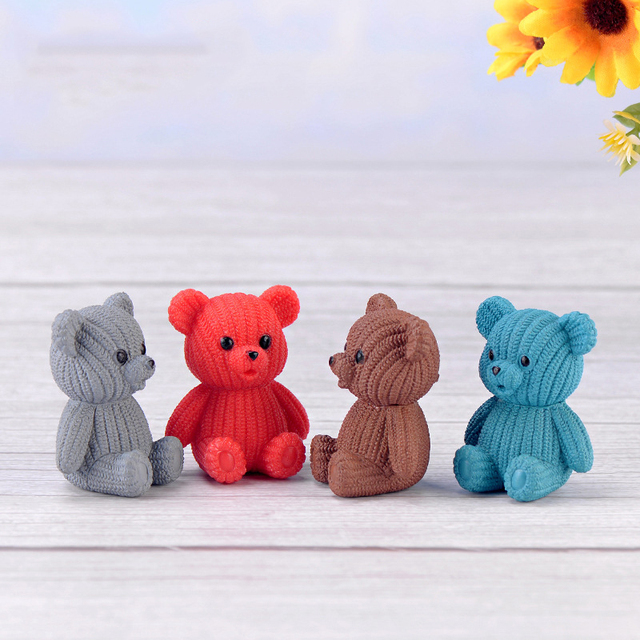Colorful Decorative Teddy Bear Figurine