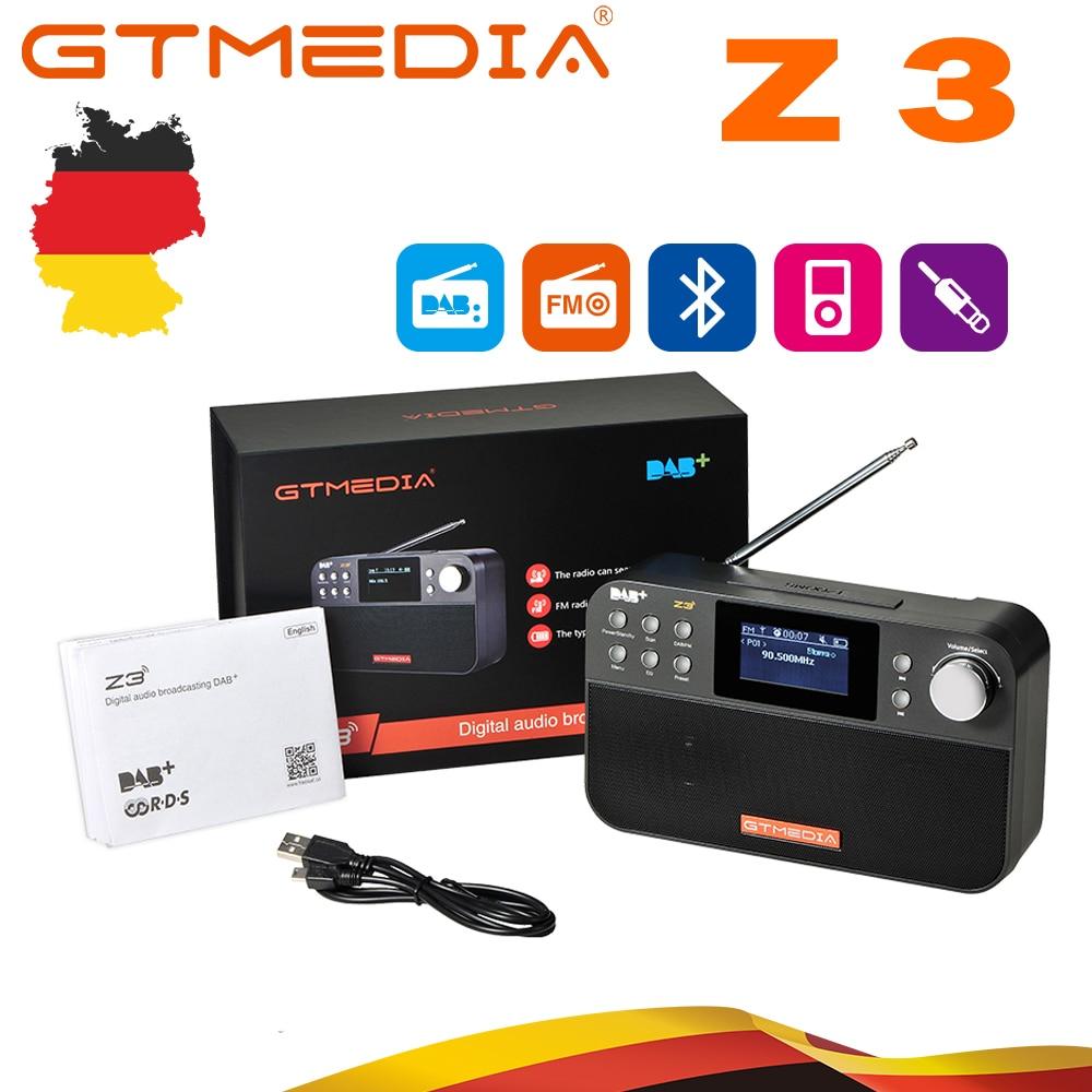 GTmedia Z3B Portable DAB Radio FM Radio Digital Radio Bluetooth Speaker USB Rechargeable Battery Powered with Dual Speakers New