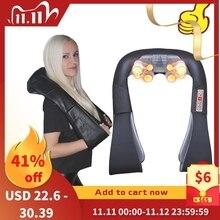 3D Impastare Shiatsu Cervicale Collo Schiena Massaggiatore Scialle Rullo Elettrico Dispositivo di Calore Manuale Cina Auto a Casa Macchina di Massaggio Della Spalla