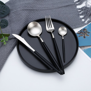 Image 5 - Hot Sale Dinner Set Cutlery Knives Forks Spoons Wester Kitchen Dinnerware Stainless Steel Home Party Tableware Set