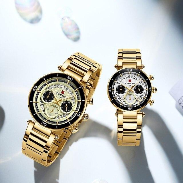 Hot Reward Women's Wristwatch Fashion Waterproof Travel Date Timepiece Girls Watch Casual Wrist Watch for Women Quartz Watches 5
