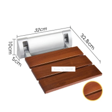 Seat Bathroom-Stool Wall-Mounted Shower-Wall Folding Chair Strengthen Solid-Wood High-Quality