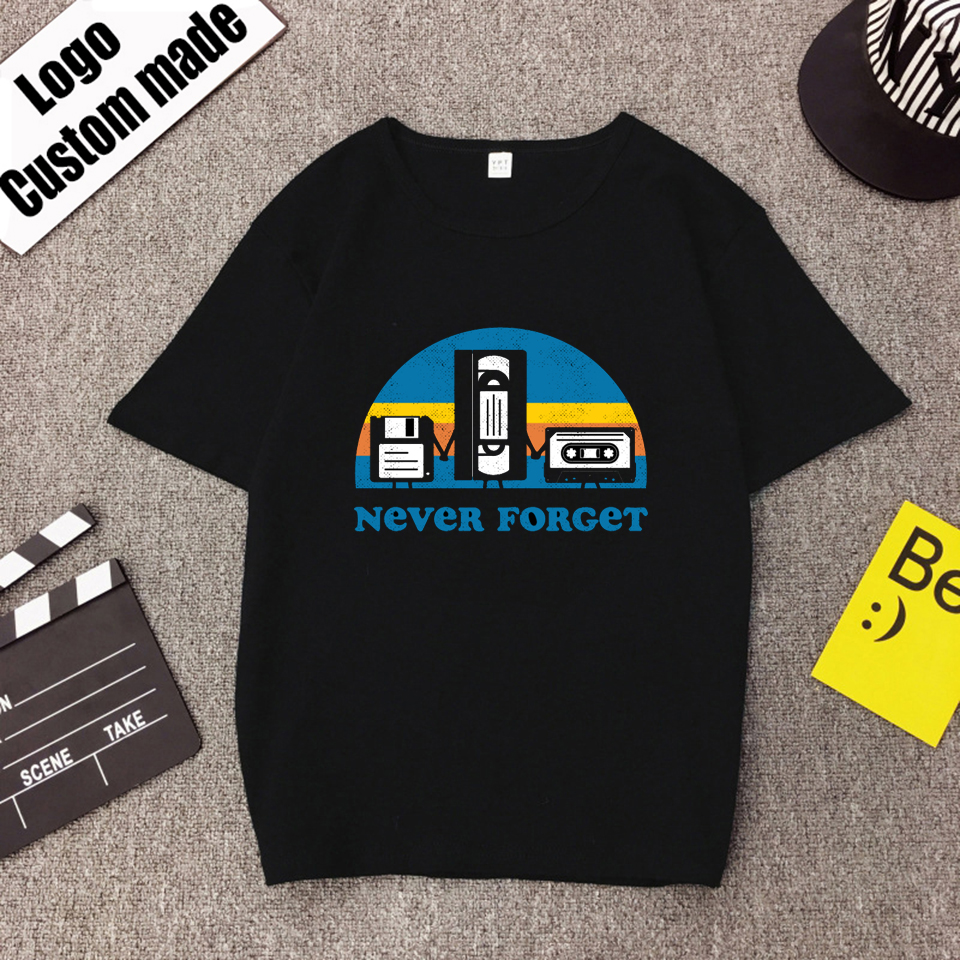 Never Forget Graphic Tees Men Streetwear Oversized T Shirt Hip Hop Boyfriend Gift Tshirt Short Sleeve Female Male T-shirts Tee