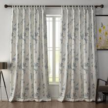 Tab Top Animals Polyester Curtain Window Drapery Size and Liner Custom ChadMade Luna (1 Panel) Curtain For Track Traverse Rod