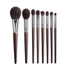 OVW profesjonalny zestaw pędzli do makijażu naturalne kozie kosmetyki do włosów Eyeshadow Powder Concealer wyróżnij zestaw pędzelków rozproszonych