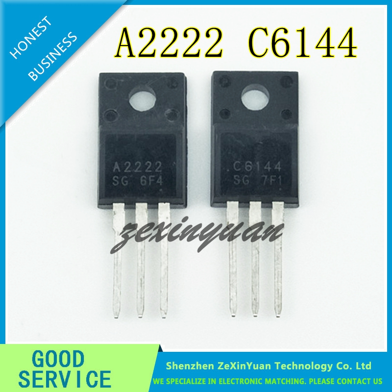 20pcs/lot New 2SA2222 & 2SC6144 TO-220F (10 X A2222 + 10 X C6144) Silicon PNP Power Transistor