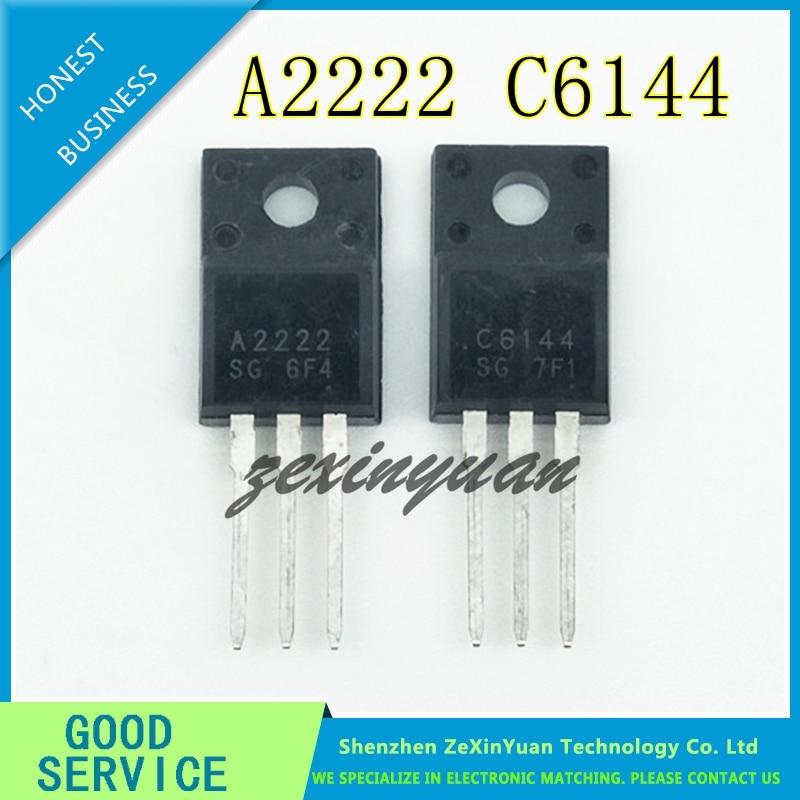 20pcs/lot New 2SA2222 & 2SC6144 TO-220F (10 X A2222 + 10 X C6144) Silicon PNP Power Transistor