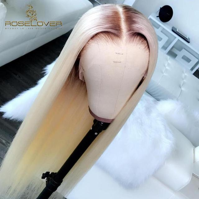 #4/613 Ombre Honey Blonde Body Wave Lace Front Human Hair Wigs Brazilian Remy Hair Pre Plucked with Baby Hair 8-26'' Lace Wigs 3