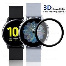 3D 곡선 스크린 유리 섬유 삼성 갤럭시 시계 활성 2 Active2 40mm 44mm 전체 커버 스크래치 방지
