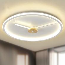 Светодиодный потолочный светильник в форме часов для спальни