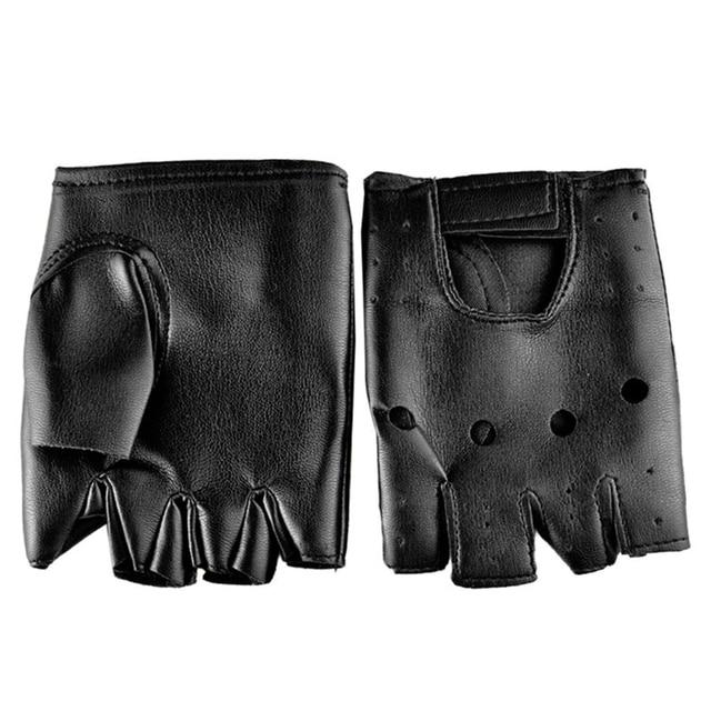 Перчатки в стиле панк из искусственной кожи 3