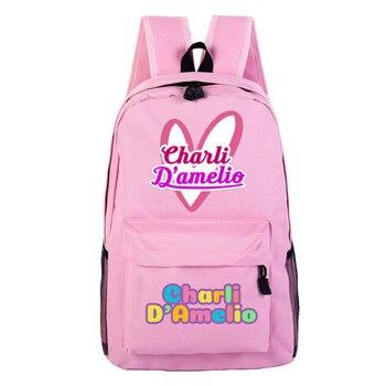 School Bags for Teenage Girls Charli Damelio Backpack Women Mochilas Escolares Bookbag Laptop Back Pack Men Kawaii Backpack Kids 14