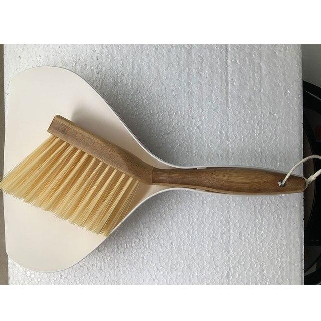 Vanzlife bamboo handle mini brooms shovel set household plastic cleaning brush small broom dust shovel 6