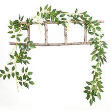 Simulation Wisteria Flower String Tree Vines Decorative Bean Rattan Fake Strips Wedding Pipe Decoration 2M