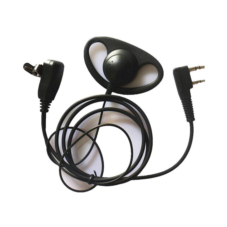 Walkie Talkie 2,5 mm 1 Pin Auriculares de un Solo Pin en Forma de G Demeras 2 uds Auriculares de Seguridad policial micr/ófono PTT en l/ínea para Radio bidireccional