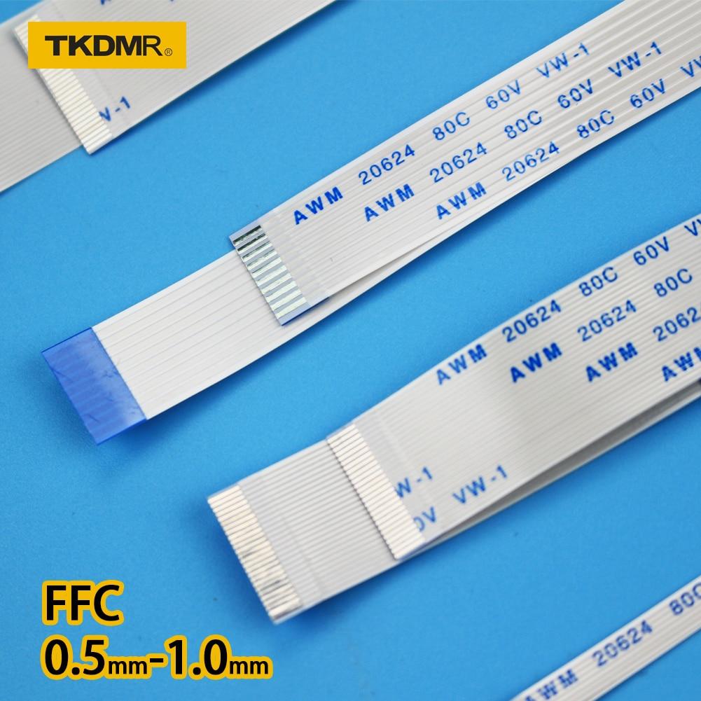 Плоский гибкий кабель TKDMR FFC FPC, ЖК-кабель AWM 20624 80C, 60 в, VW-1, 4P/5P/6P/8P/10P/12P/14P/16P/18P/20P/24P/26P/30P/32P