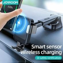 Joyroom – support de téléphone de voiture sans fil Qi 15w, chargeur rapide infrarouge Intelligent pour iPhone 12 Huawei