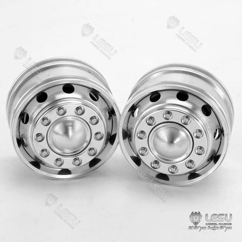 Metal LESU Front Hub Bearing for 1/14 RC TAMIYA VOLVO FH12 FH16 Tractor Truck
