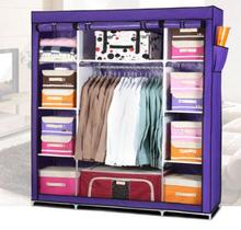 Super Large Reinforced Portable Home Wardrobe Storage Hanger Home Furniture Closet Organizer Rack New