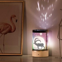 Animated cartoon LED night light with LED charging, USB charging dimming bedside LED light for children's bedroom bedside lamp