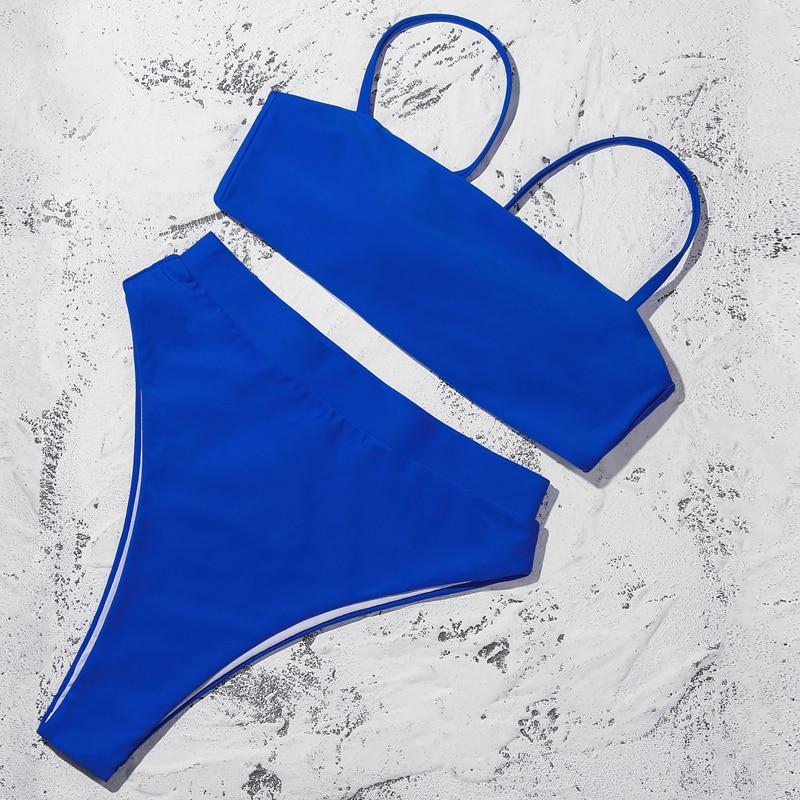 H6cda0b0163c948d3bd53f29e803af7ebB ZTVitality Sexy Bikinis Solid Push Up Bikini 2019 Hot Sale Padded Bra Straps High Waist Swimsuit Swimwear Women Print Biquini XL