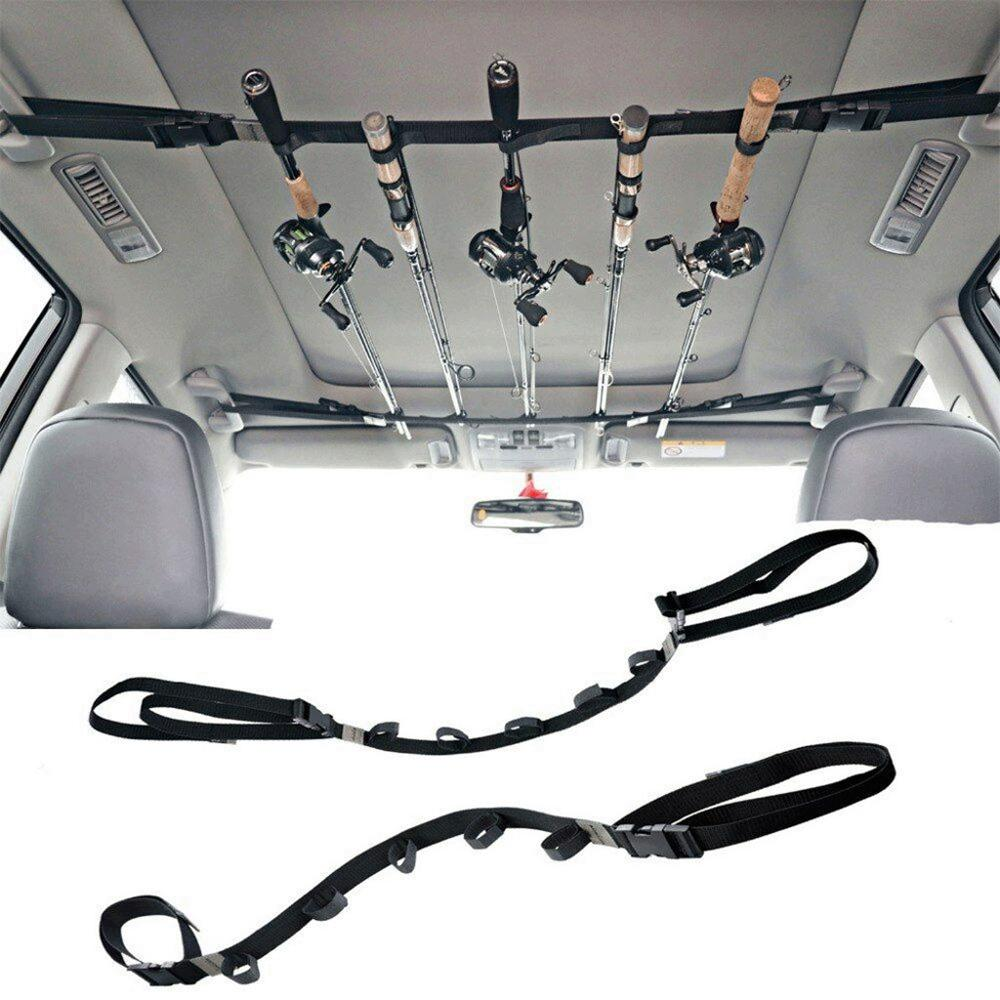 Car Fishing Raft Vehicle Fishing Rod Carrier Rod Holder Belt Strap With Tie Suspenders Wrap Fishing Accessories wholesale Hot f3
