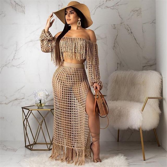 Fringed Tassel Beach Dress
