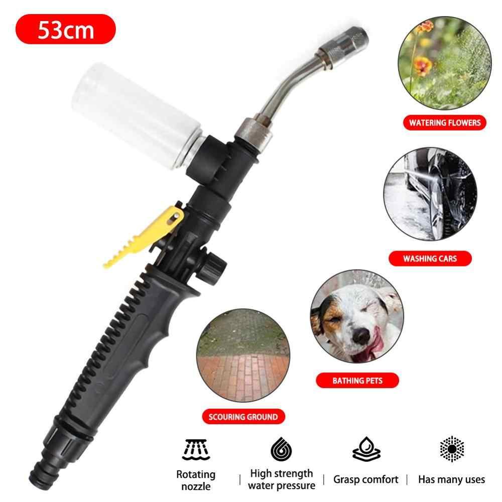 Wysokociśnieniowy regulowany pistolet na wodę mgła przedszkole zraszacz podlewanie warzyw pistolet z butelka piankowa narzędzia ogrodowe