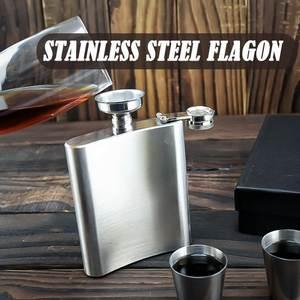 Flagon Funnel Whisky-Pot Flasks Drinkware Alcohol-Bottle Pocket Wine Stainless-Steel