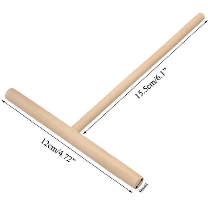 Houten Plank Strooier Stok Thuis Nieuwe Keuken Gereedschap Ei T-Vormige Crêpe Machine