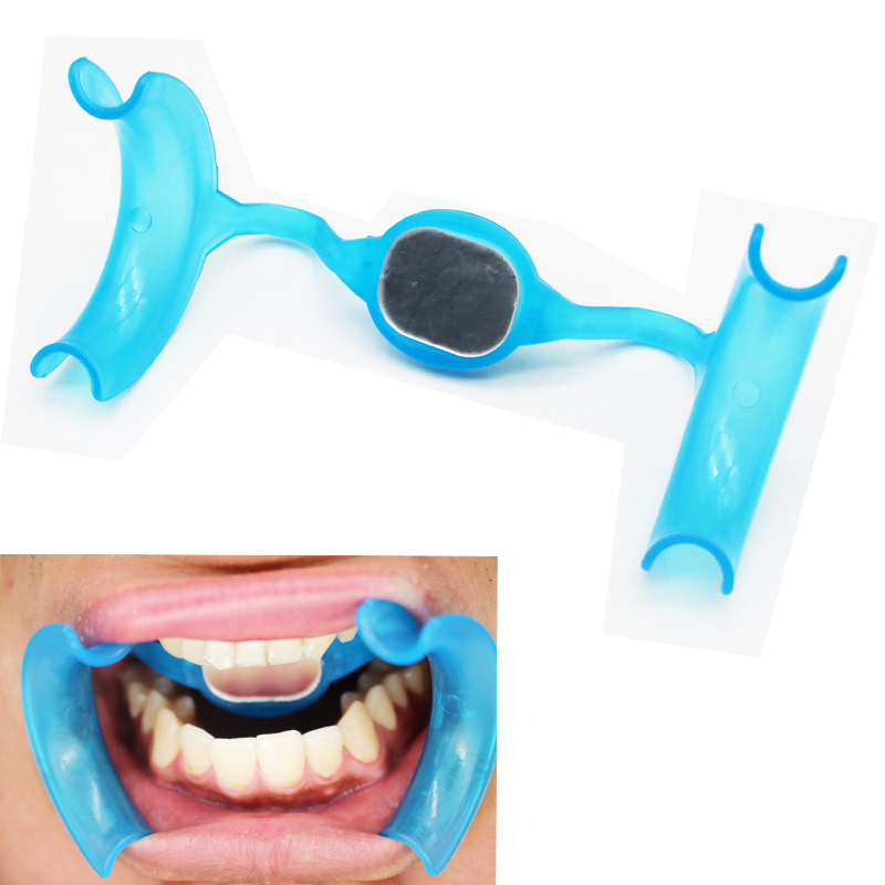 1pcs Dental Products Mouth Opener Expander For Teeth  M Type Plastic Blue Tooth Whitening Tool Dentist Tools Dentistry Retractor