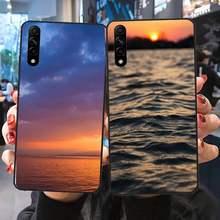 Bonito natural pôr do sol caso de telefone huawei para huawei p9 p10 p20 p30 p40 lite por psmart 2019