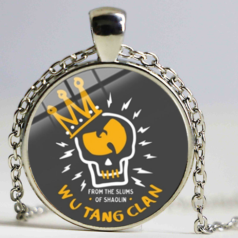 New Wu Tang Clan Band Logo Necklace Famous HIP-HOP Rap Music Band Handmade Glass Cabochon Pendant for <font><b>Fans</b></font> <font><b>Jewelry</b></font> image