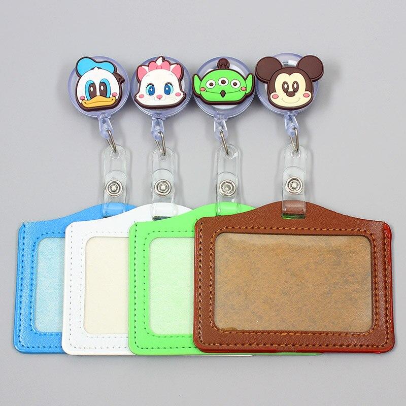 Cartoon Cute Duck & Cat Retractable Creative Badge Reel Student Nurse Girl Exhibition Enfermera Name Card Chest Bear Card Holder