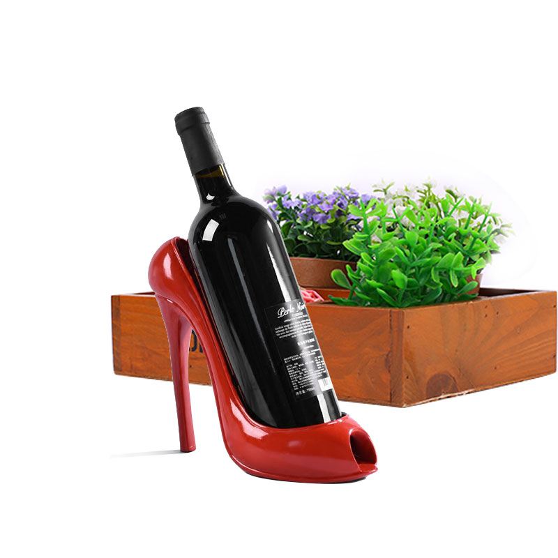 New High Heel Shoe Wine Bottle Holder Stylish Wine Rack Gift Basket Accessories