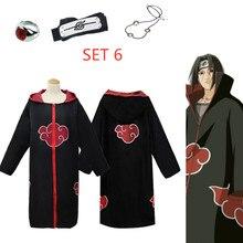 Homem/mulher atacado naruto traje sasuke uchiha cosplay itachi vestuário quente anime akatsuki capa cosplay traje tamanho s 2xl