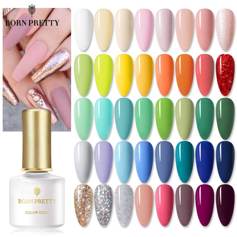 BORN PRETTY Gel Polish 72Colors 6ml Soak Off UV Gel Nail Polish Nail Art Gel Varnish Semi Permanent Base Top Coat UV LED Gel